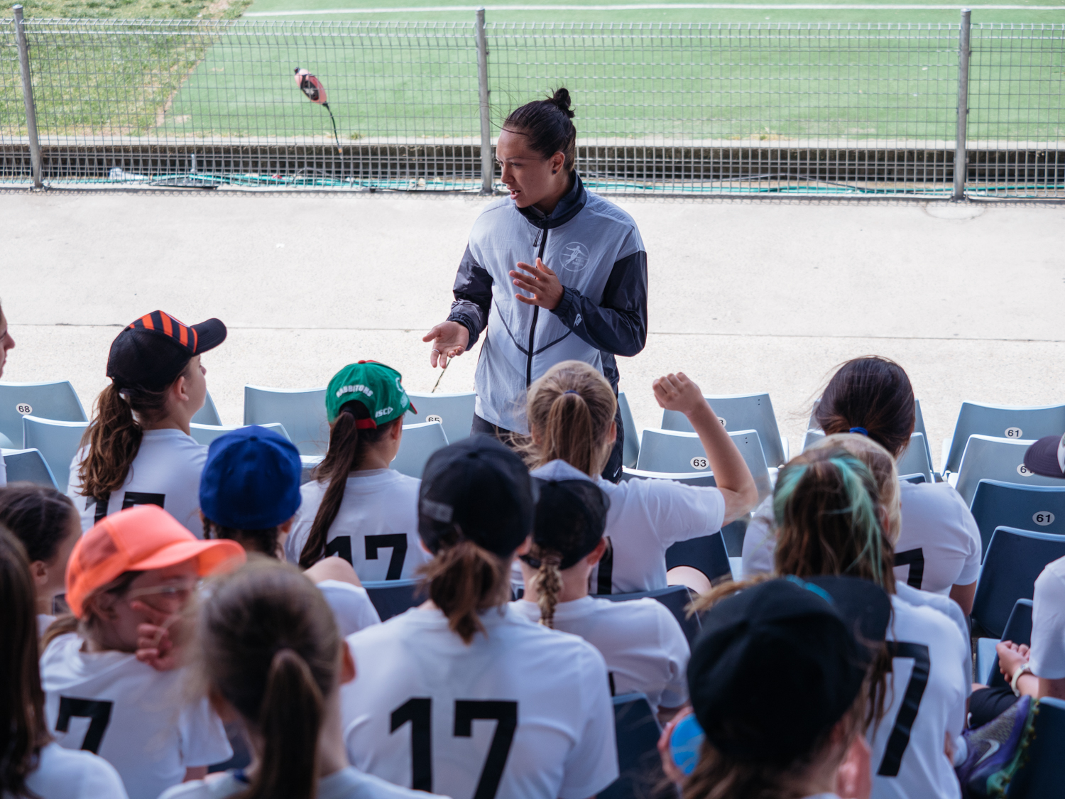 Q&A's with Kyah at the conclusion of the clinic