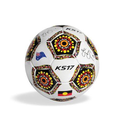 KS17 Indigenous Soccer Ball White